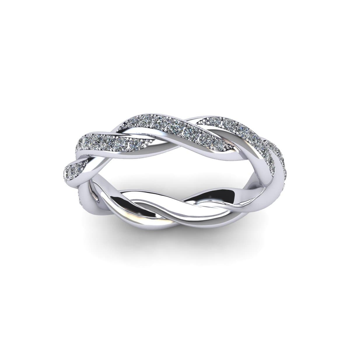 sparkly silver ring